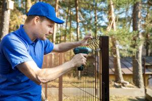 Pose de clôture 06